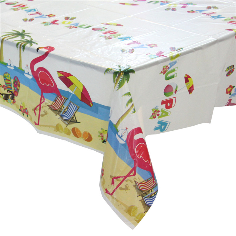 Summer Time Clear Printed Tableekloth PVC Tableecover